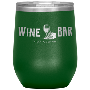 Wine Bar Atlanta Tumbler Green