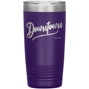 Downtown Atlanta Georgia Tumbler Purple