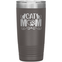 Load image into Gallery viewer, Cat Mom Stainless-Steel Tumbler Pewter
