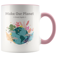 Load image into Gallery viewer, Make Our Planet Great Again Accent Coffee Cup Pink