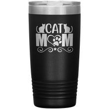 Load image into Gallery viewer, Cat Mom Stainless-Steel Tumbler Black