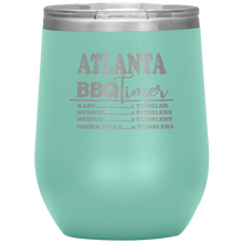 Load image into Gallery viewer, Atlanta BBQ Timer Wine Tumbler Teel