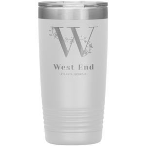 West End Atlanta Tumbler White
