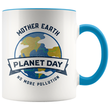 Load image into Gallery viewer, Mother Earth Planet Day Accent Ceramic Coffee Cup Blue