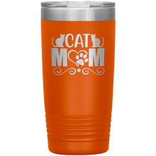 Load image into Gallery viewer, Cat Mom Stainless-Steel Tumbler Orange