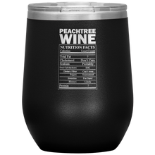 Load image into Gallery viewer, Peachtree Wine Facts Tumbler Black
