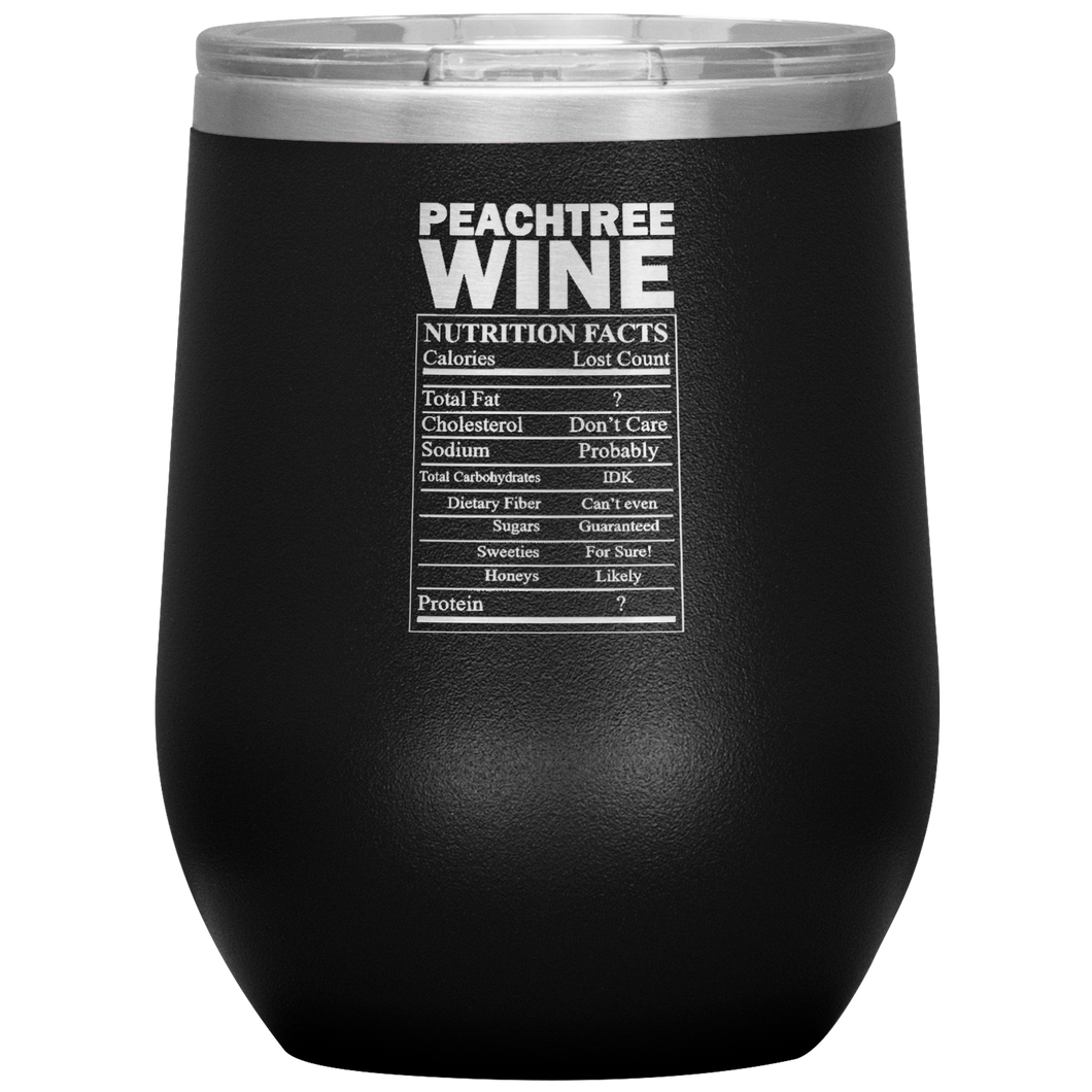 Peachtree Wine Facts Tumbler Black