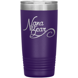 Nana Bear Stainless-Steel Tumbler Purple