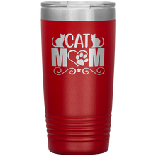 Load image into Gallery viewer, Cat Mom Stainless-Steel Tumbler Red