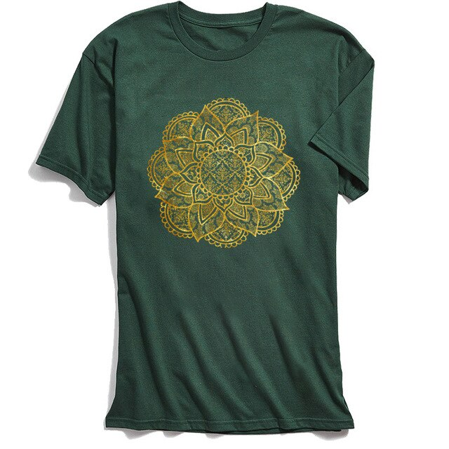 Golden Mandala Vintage T-Shirt