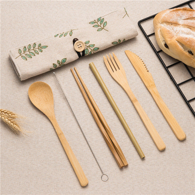 Portable Cutlery Wooden