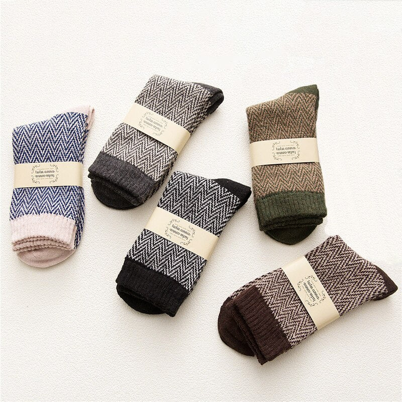 Geometric Striped Socks