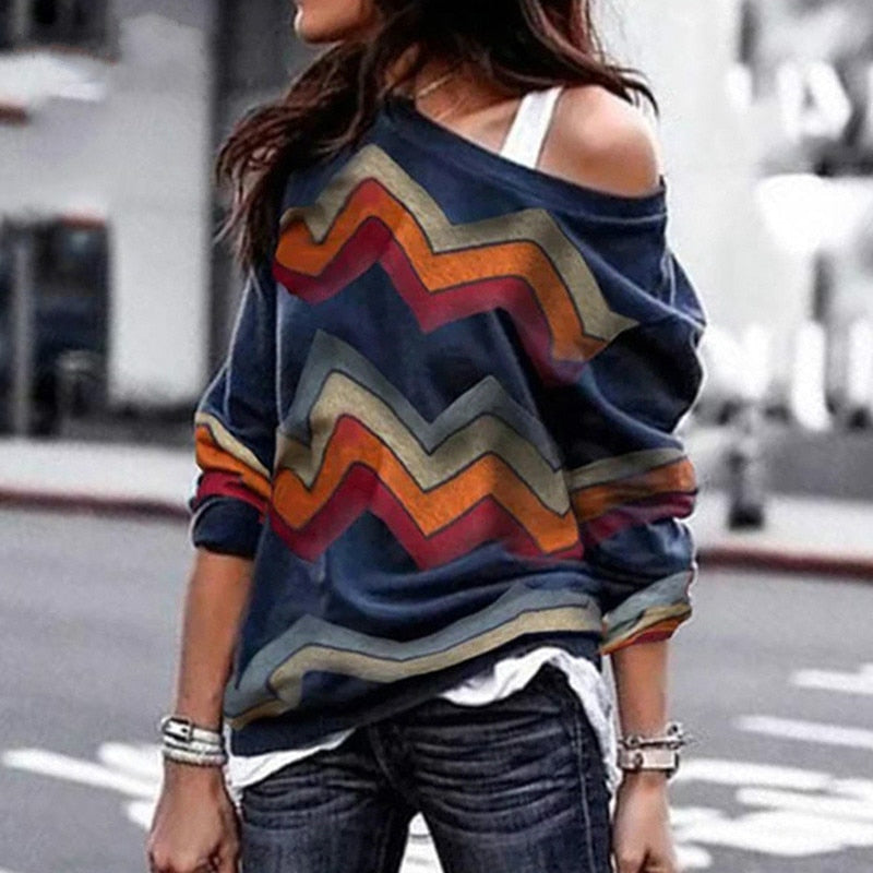 Geometric Long Sleeve Top