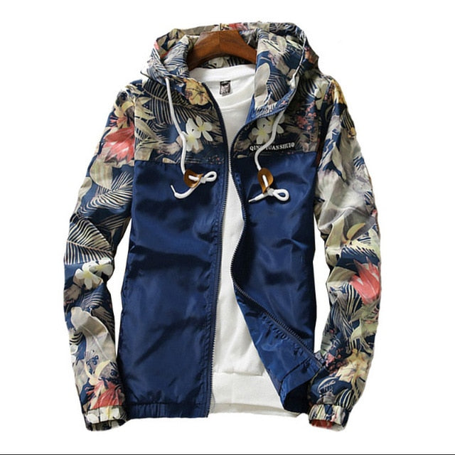 Floral Windbreaker Jacket