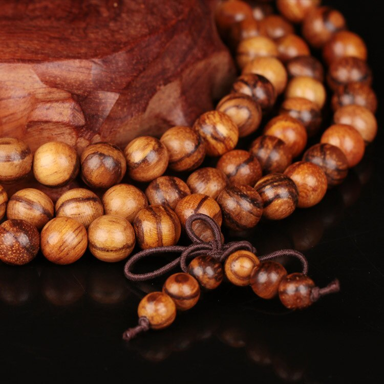 Vintage 6mm 8mm 108 Sandalwood Beads