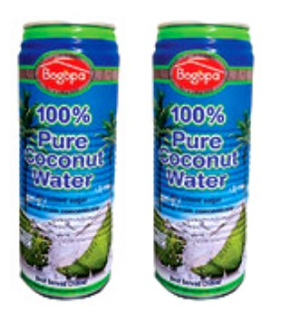 Bogopa %100 Pure Coconut Water - 2Pack (Dogal Hindistan Cevizi Suyu) 17.58fl Oz.