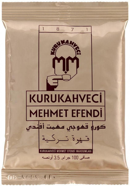 Traditional Famous Turkish Coffee by Mehmet Efendi 100G x 3 (3 Bundle Pack)