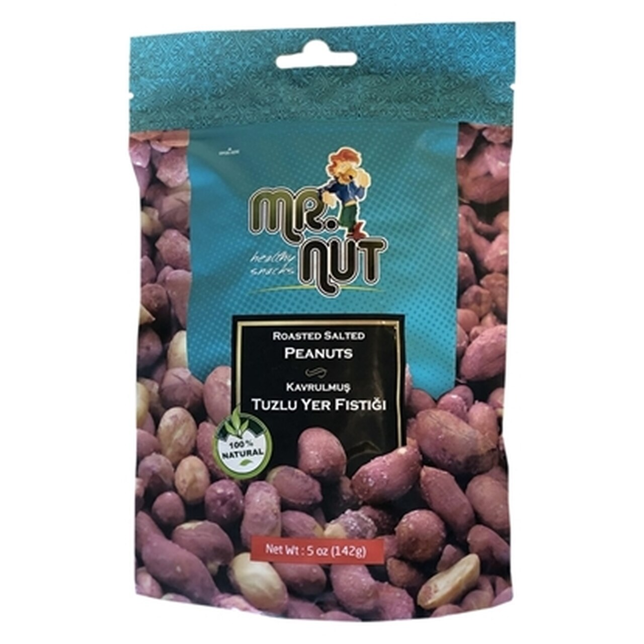 Mr.Nut Roasted and Salted Peanuts (Kavrulmus Tuzlu Fistik) 5Oz