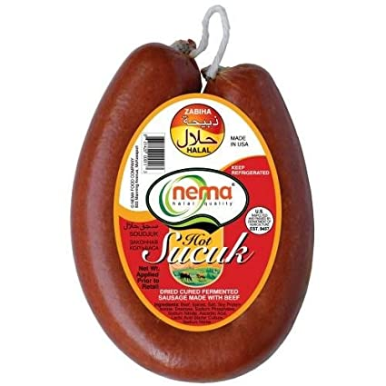 Nema Dried Cured Fermanted Sausage Sujuk Mild 285G (Nema Acisiz Sucuk)