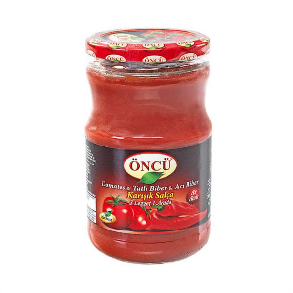 Oncu Mix Tomato and Paprika Paste Hot (Domates-Biber Karisik Salca - Aci) 1.55lbs