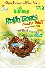 Rollin' Goats Cacao Balls for KIDS Gluten Free Cereal with Goat Milk HUNNAP 250G
