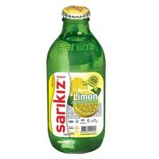 Sarikiz Sparkling Water Lemon Flavored (Limonlu Soda) 0.55lb