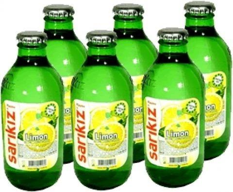 Sarikiz Sparkling Water Lemon Flavored x 6Pack (Limonlu Soda) 0.55lb