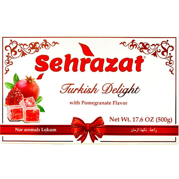 Turkish Delights by Sehrazat, Traditional Pomegranate Flavored | 1.1lbs