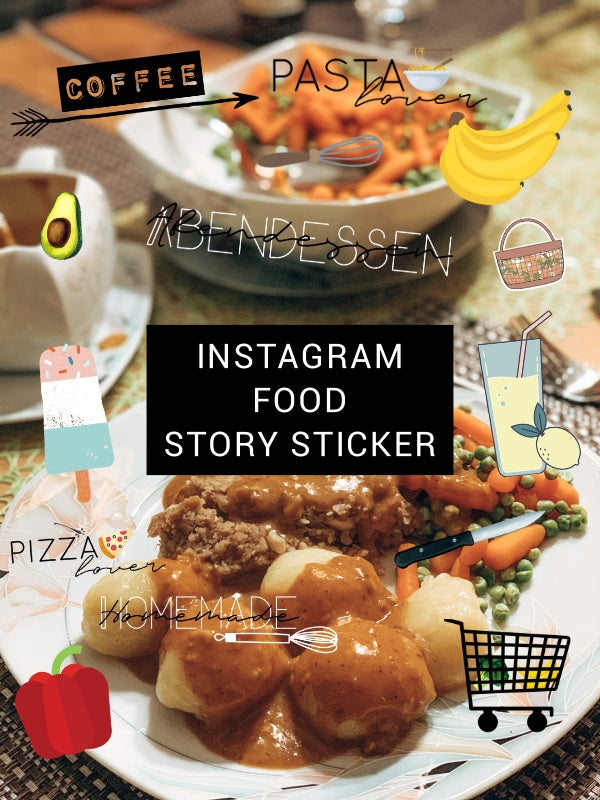 INSTAGRAM STORY STICKER - FOOD