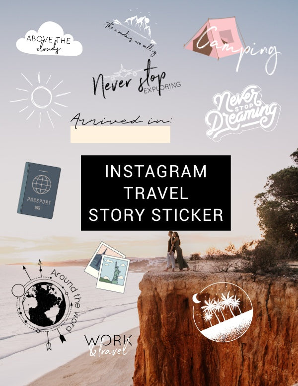 INSTAGRAM STORY STICKER - TRAVEL