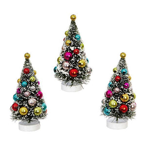 Decorated Bottle Brush Trees - 4""