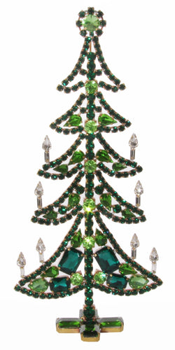 Emerald Green Crystal Christmas Tree