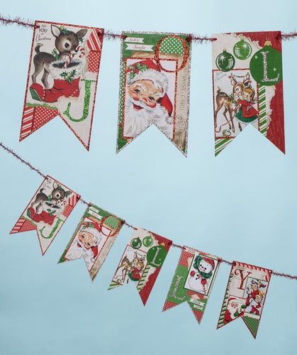 Jolly Retro Christmas Garland