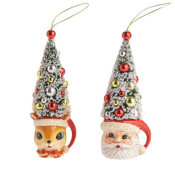 Santa and Reindeer Tree Ornaments