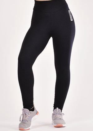Ruched Black Leggings