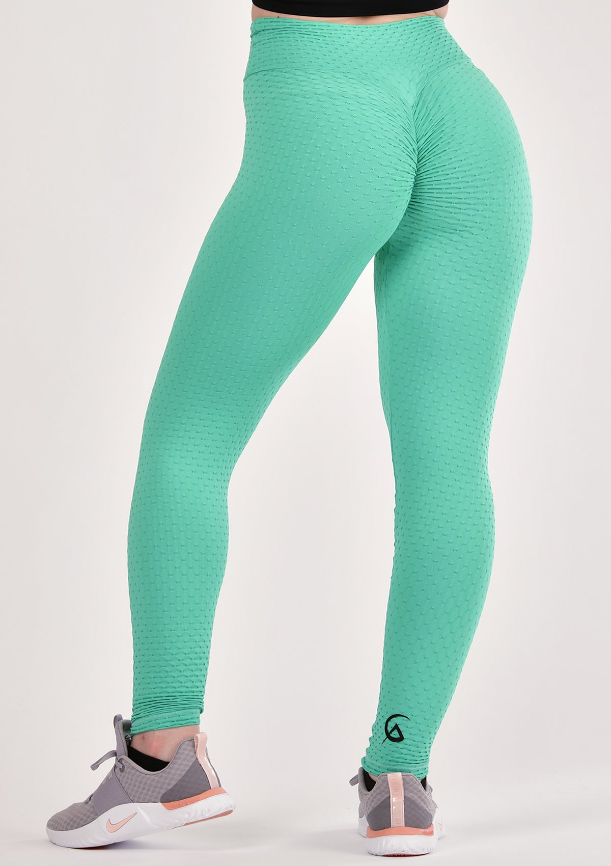 Ruched Green Leggings