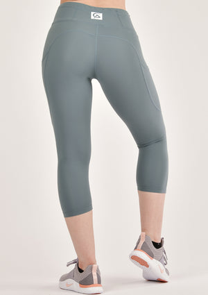 Alure Dusty Blue Cropped Leggings