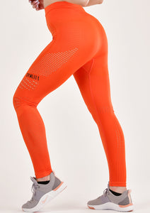 Power Orange Seamless Leggings