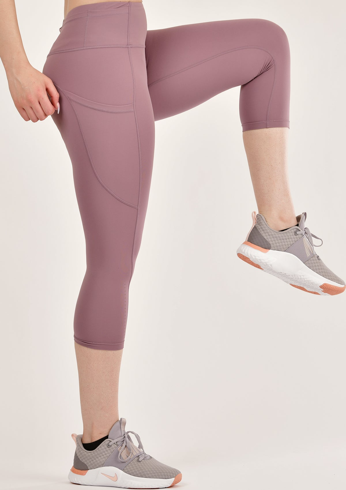Alure Dusty Pink Cropped Leggings