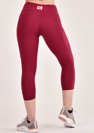 Alure Ruby Red Cropped Leggings