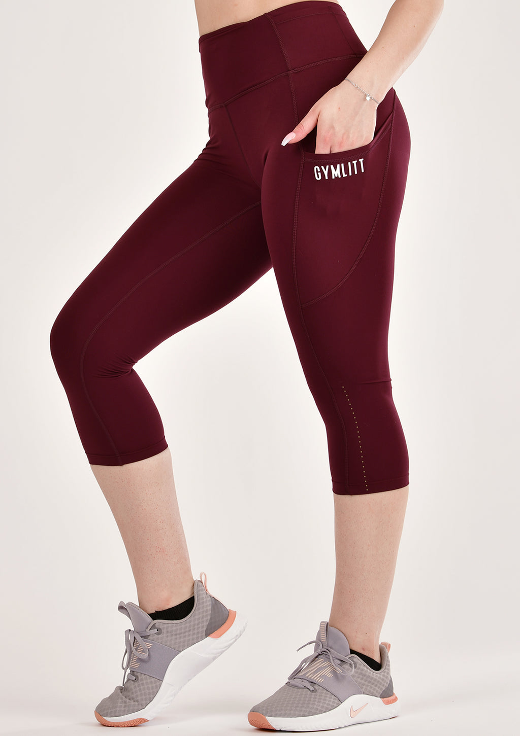 Alure Intense Wine Cropped Leggings