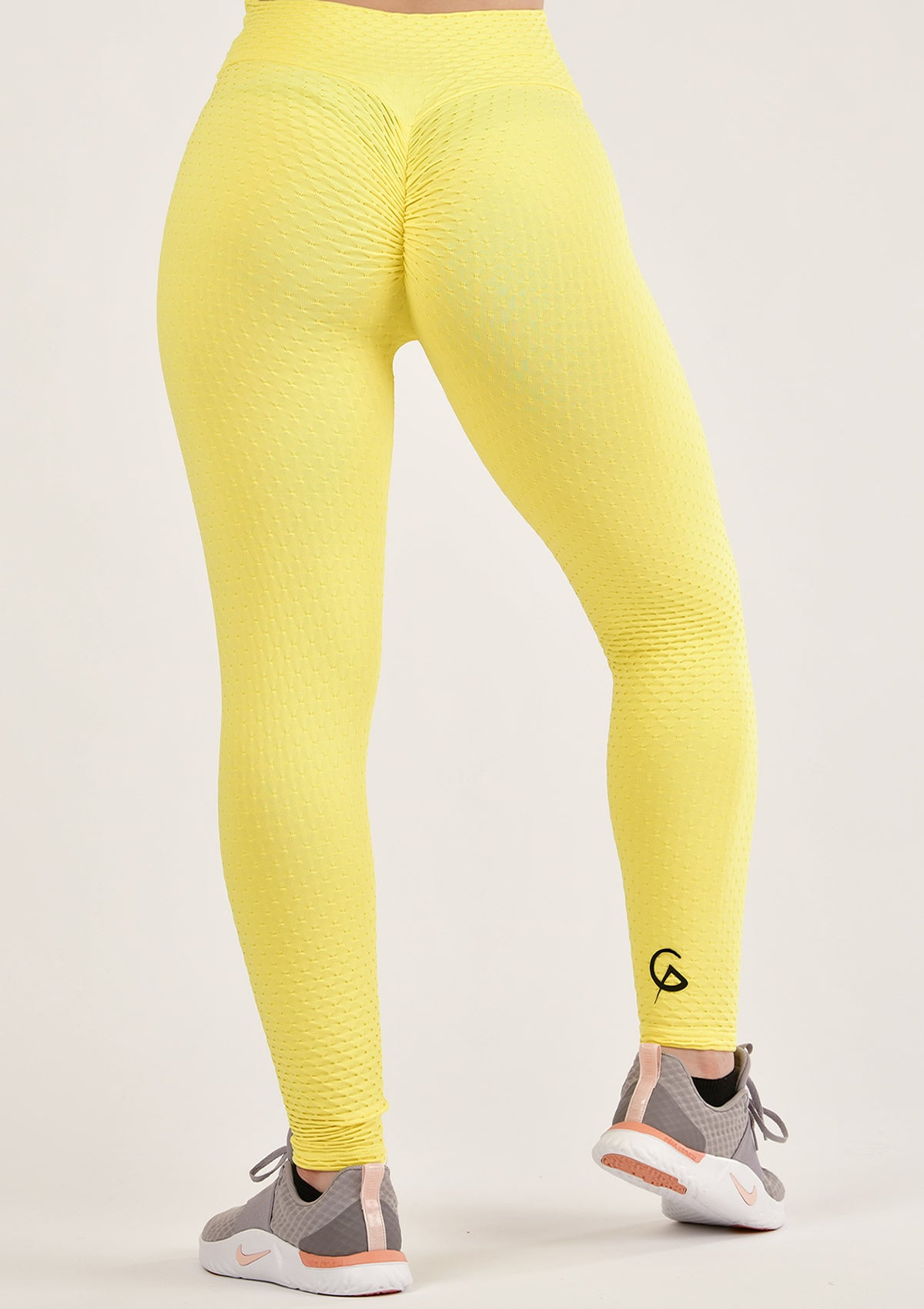 Ruched Yellow Leggings