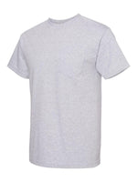 Alstyle Classic Adult Athletic Grey tee with Pocket
