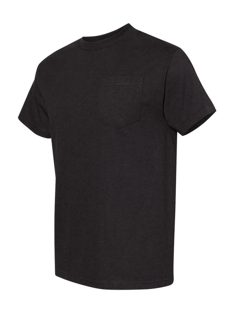Alstyle Classic Adult Black tee with Pocket