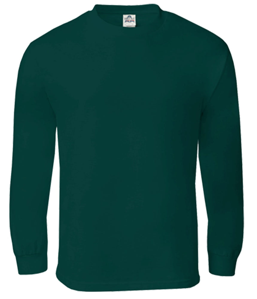Alstyle Classic Adult Long Sleeve Forest Green Tee