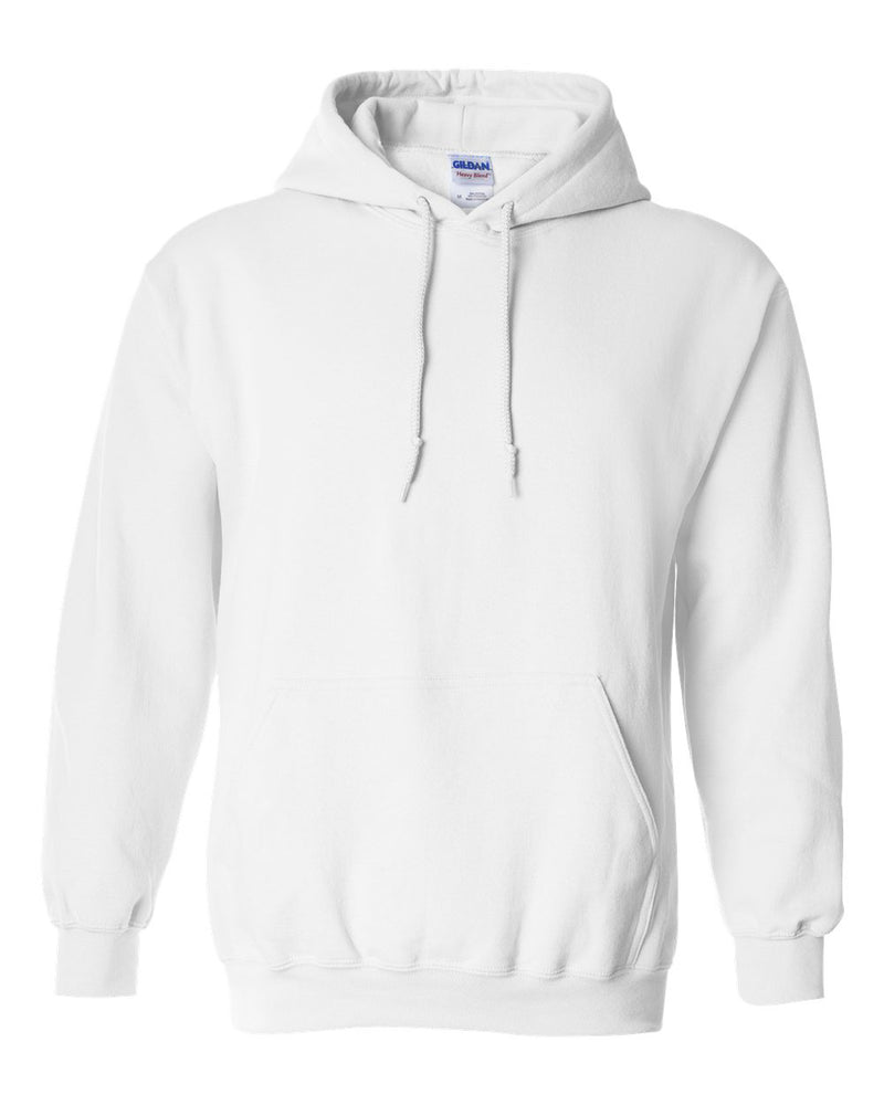 Gildan Heavy Blend  Hooded White Sweatshirt