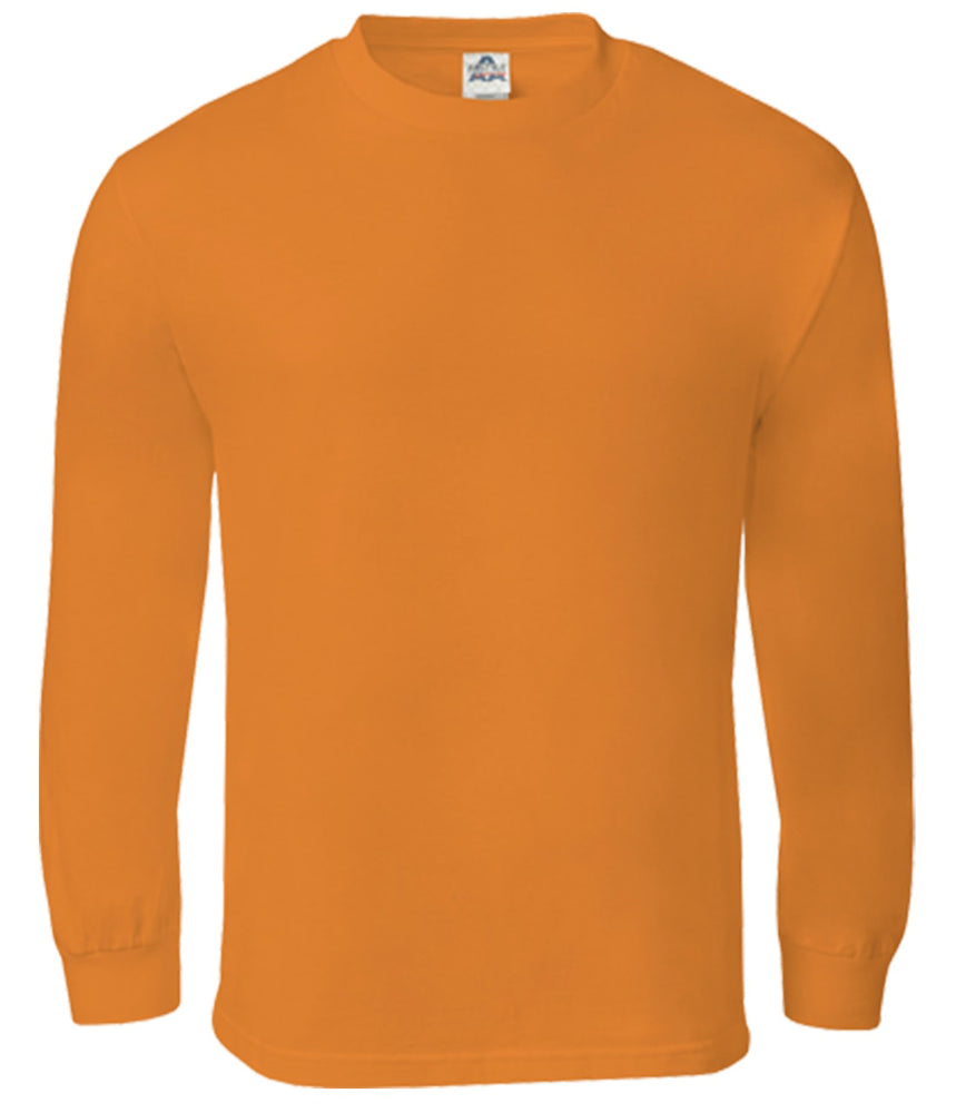 Alstyle Classic Adult Long Sleeve Orange Tee