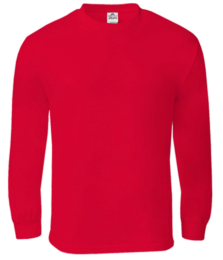 Alstyle Classic Adult Long Sleeve Red Tee