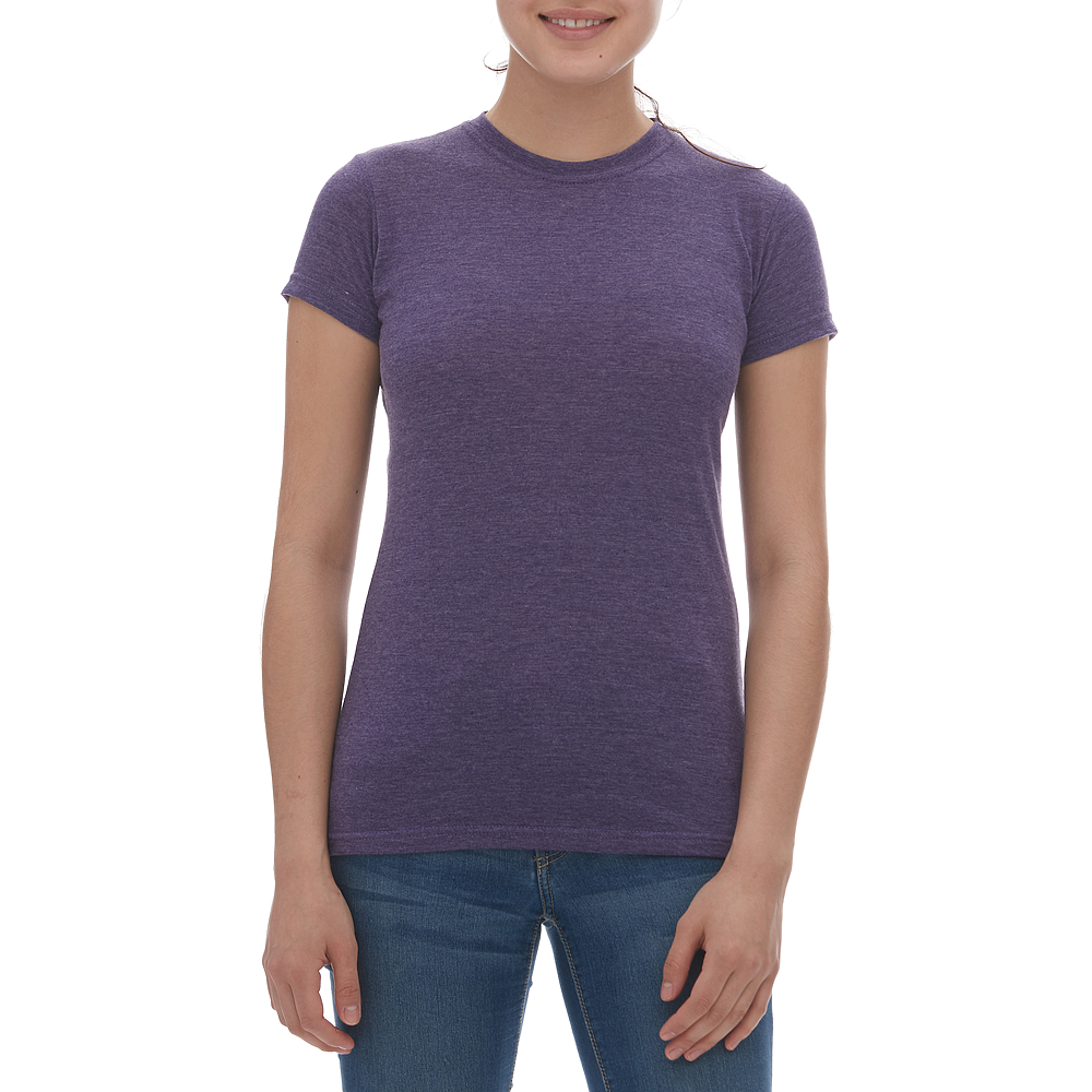 M & O Ladies Blend Tee - Heather Purple