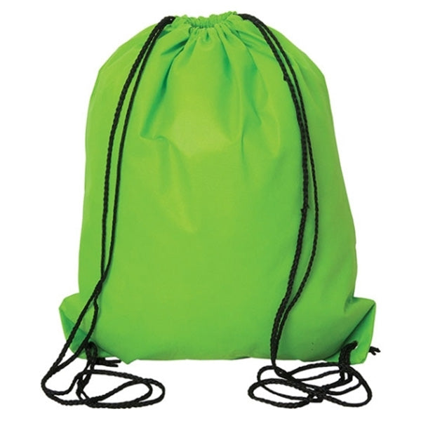 (Lime Green) Non Woven Drawstring Backpack